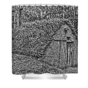 Home On Earth  Shower Curtain