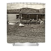 Home Sweet Home Sepia Shower Curtain