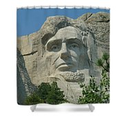 Honest Abe In Stone Shower Curtain