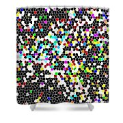 Honeycomb Abstract  Shower Curtain