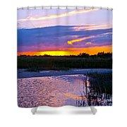 Honeymoon Island Sunset Shower Curtain