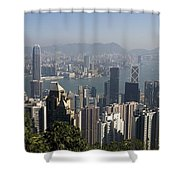 Hong Kong Cityscape Hong Kong, China Shower Curtain