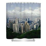 Hong Kong Island And The Bay Shower Curtain