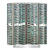 Hong Kong Residential Building Shower Curtain