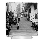 Hong Kong Vintage Street Scene - C 1896 Shower Curtain