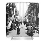 Hong Kong Vintage Street Scene - C 1902 Shower Curtain