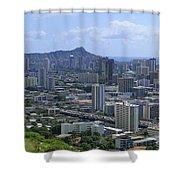 Honolulu And Diamond Head Shower Curtain