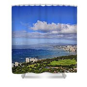 Honolulu From Diamond Head Shower Curtain