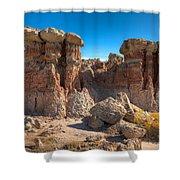 Hoodoos At Gooseberry Desert Wyoming Shower Curtain
