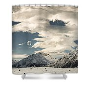 Hooker River In The Valley At Tasman Shower Curtain
