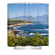 Hookipa Beach Park Shower Curtain