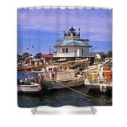 Hooper Strait Lighthouse - Fs000115 Shower Curtain