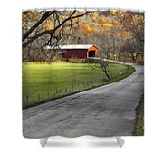 Hoosier Autumn - D007843a Shower Curtain