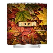 Hope-autumn Shower Curtain