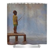 Hoping For The Big One Shower Curtain