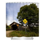 Hopkins Covered Bridge Shower Curtain