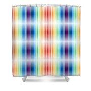 Horizontal Lights Shower Curtain