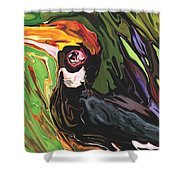 Hornbill Shower Curtain