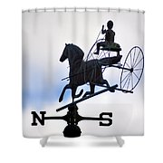 Horse And Buggy Weather Vane Shower Curtain