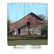 Horse Barn Shower Curtain