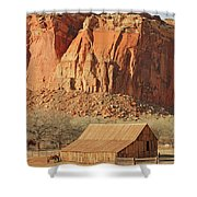 Horse Barn In Fruita Utah Shower Curtain