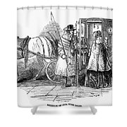 Horse Carriage, 1847 Shower Curtain
