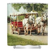 Horse Carriage Mackinac Island Michigan Shower Curtain