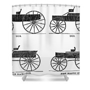 Horse Carriages, 1810-1860 Shower Curtain