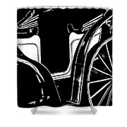 Horse Drawn Carriage Antique Shower Curtain