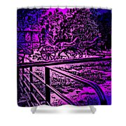 Horse Drawn Carriage In The Snow Shower Curtain