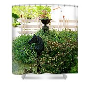 Horse Hitching Post 2 Shower Curtain