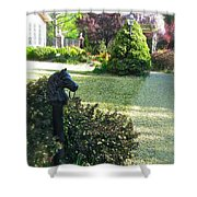 Horse Hitching Post 3 Shower Curtain