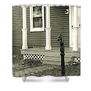 Horse Hitching Post Shower Curtain