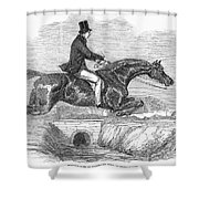 Horse-jumping, 1852 Shower Curtain