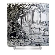 Horse Meadow Shower Curtain