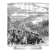 Horse Racing, 1850 Shower Curtain