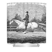 Horse Racing, 1851 Shower Curtain