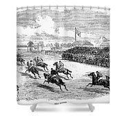 Horse Racing, 1870 Shower Curtain