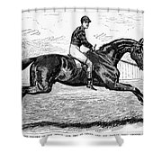 Horse Racing, 1880s Shower Curtain by Granger