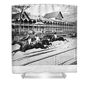 Horse Racing, 1889 Shower Curtain