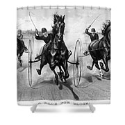 Horse Racing, 1890 Shower Curtain