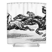 Horse Racing, 1900 Shower Curtain