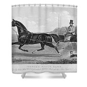 Horse Racing, C1850 Shower Curtain