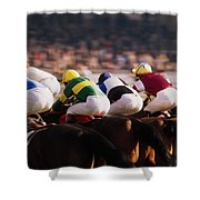 Horse Racing, Phoenix Park, Dublin Shower Curtain