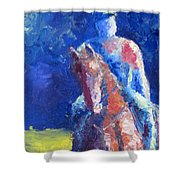 Horse Rider Shower Curtain