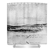 Horse Slaughter Camp 1858 Shower Curtain