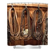Horse Tack And Reins Shower Curtain