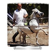 Horse Training Shower Curtain