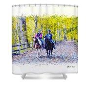 Horseback Riding  Shower Curtain