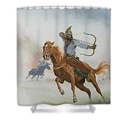 Horsemen From The Steppes Shower Curtain